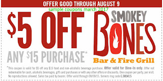 free Smokey Bones coupons march 2017