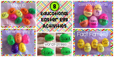 Fun learning activities using plastic Easter eggs