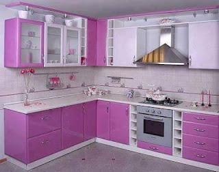 Kitchen Set Malang Hub 085103716644 Kitchen Set Warna Ungu