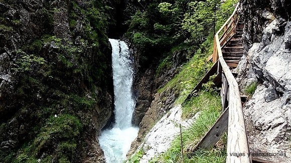 garganta de Wolfsklamm, garganta del lobo, Tirol, Austria