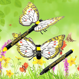 I Love Jehovah Sophia Butterfly Pen