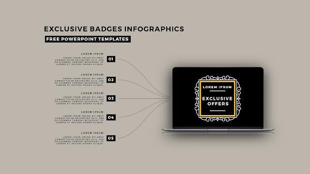 Infographic Badges Free PowerPoint Template for Special Offers Slide 14