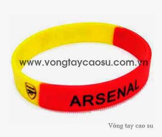 Vòng tay cao su đội bóng Arsenal