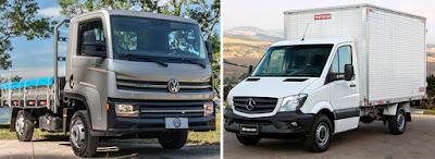 Caminhão leve da VWCO e Mercedes Benz
