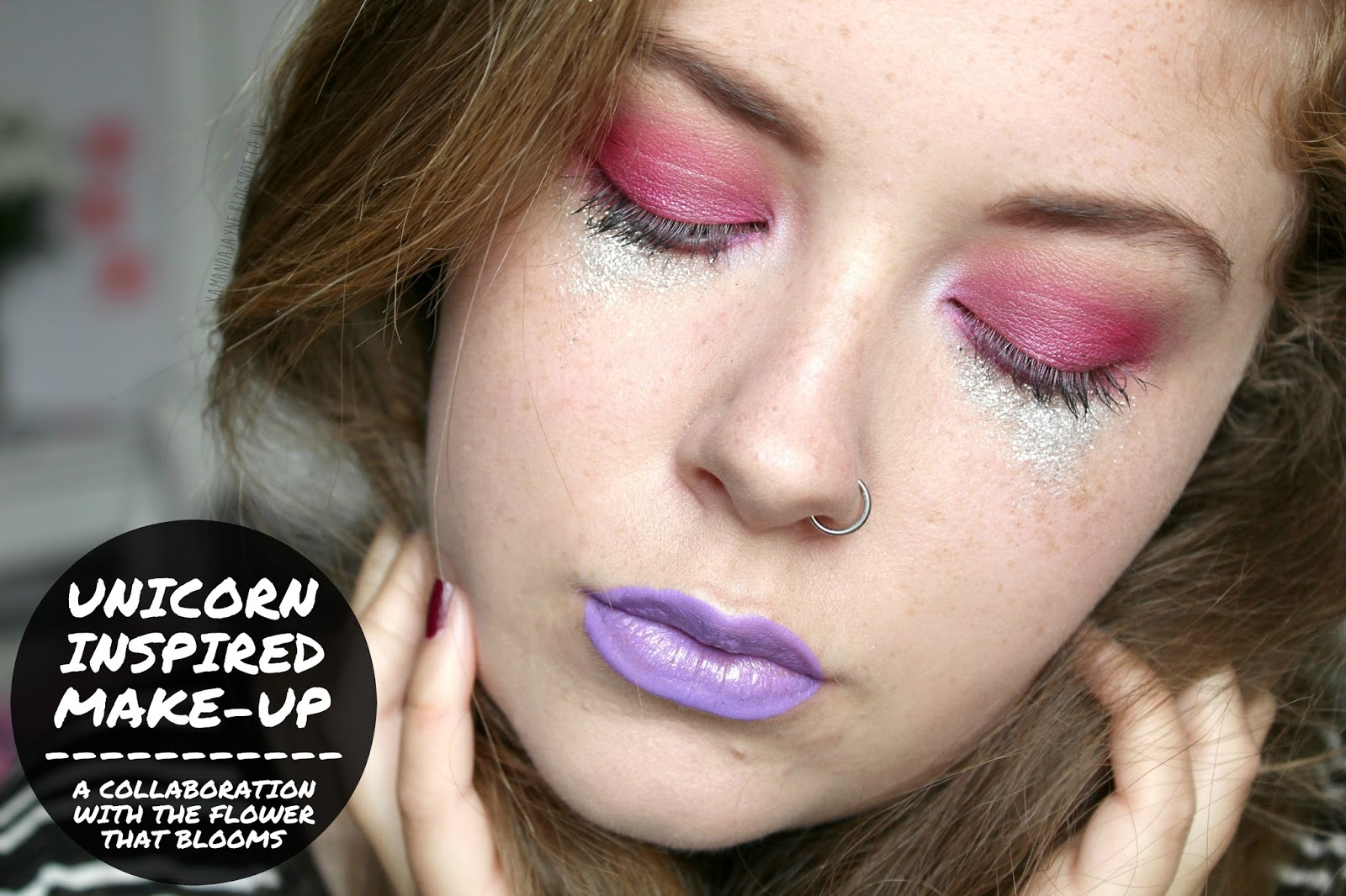 unicorn makeup festival makeup glitter makeup bold makeup drugstore beauty cosmetics the flower that blooms blog