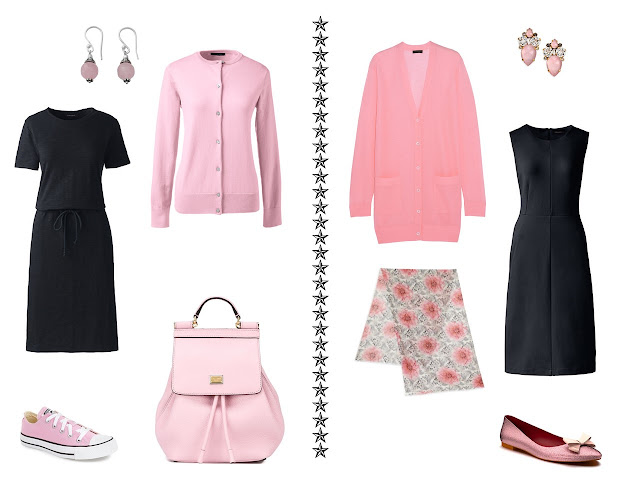 Chic Sightings: Black and Pink in the Capsule Wardrobe