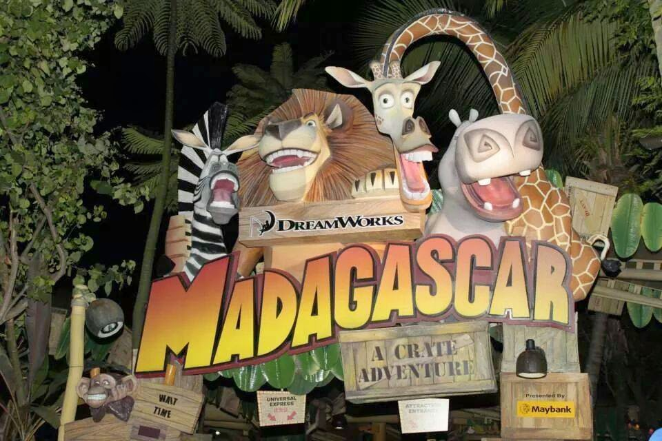 Madagascar Crate Adventure Ride Universal Studios Singapore
