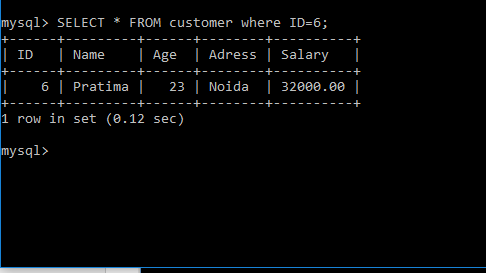 Select FROM customer in select statement in sql