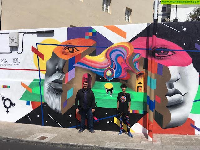Un mural de la artista polaca Magda Ćwik en la calle Galguén, nueva obra del proyecto Capital del Color