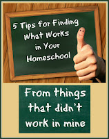 5 Tips for Finding What Works in Your Homeschool (From things that didn't work in mine) on Homeschool Coffee Break @ kympossibleblog.blogspot.com - Just because a curriculum is great doesn't mean it's a great fit for our family. Here are some lessons I've learned the hard way about picking great curriculum that great FOR YOU!