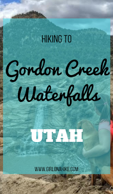 Hiking to Gordon Creek Waterfalls, Utah, Hiking in Utah with Dogs