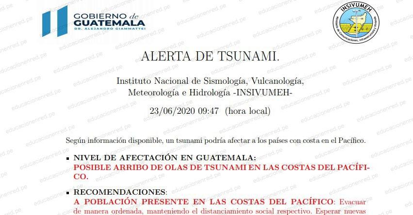 Alerta de Tsunami en las Costas del Pacífico y Centro América tras Sismo de Magnitud 7,5 en México