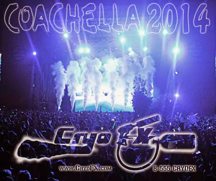 CryoFX Co2 Jet DMX 512 x 8 Coachella Main Stage 2014