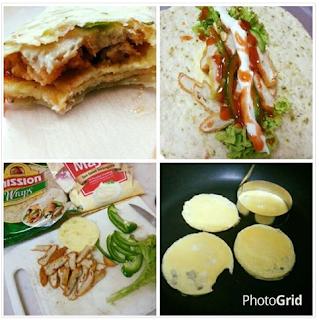 Resepi Tortilla Chicken Wrap KFC