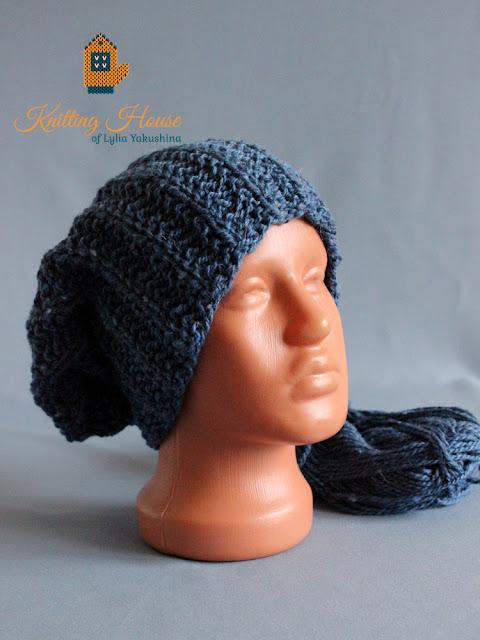шапка, вязаная шапка, шапка спицами, шапка унисекс