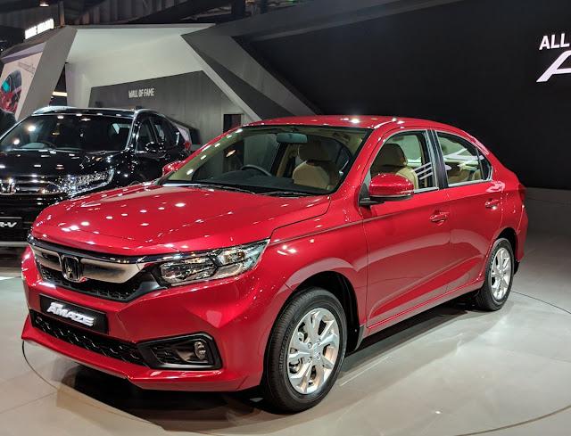 All New-Gen 2018 Honda Amaze red pics image