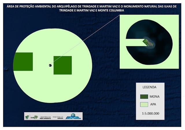 Área de Proteção Ambiental e Monumentos Naturais marinhos do Arquipélago de Trindade e Martim Vaz.  © Secretaria de Biodiversidade / MMA