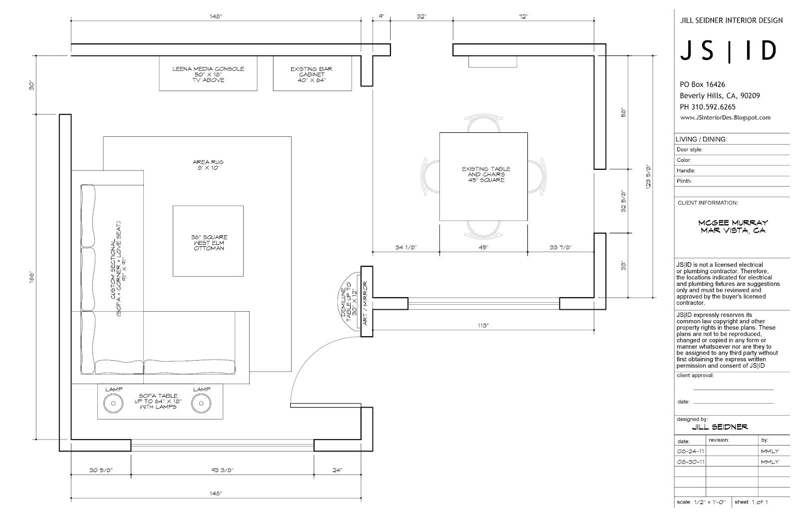 interior design furniture measurements