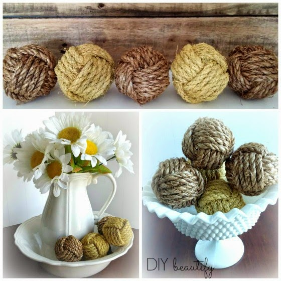 how to display rope balls www.diybeautify.com