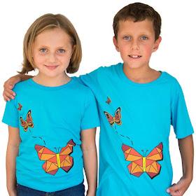 Geometric Butterflies Shirt
