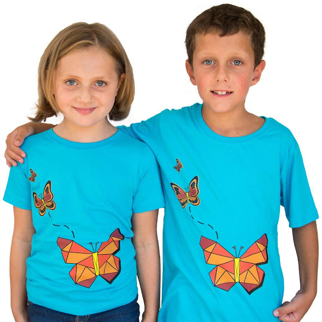 Geometric Butterflies Shirt