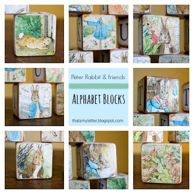 Peter Rabbit and friends wood blocks