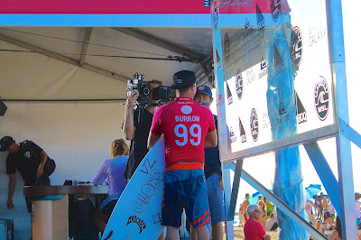 Cameraman and Media with World Champion Surfer Burrow