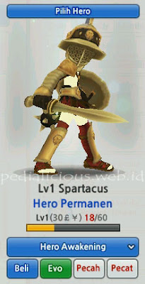 Spartacus Hero Evolution LostSaga Indonesia