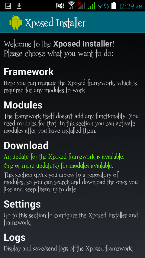Xposed Installer Screenshot 6