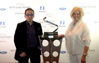 Jeff Hanson, of Overland Park, won the NASCAR Foundation's Betty Jane France Humanitarian Award