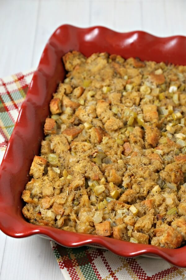 The Best Thanksgiving Stuffing Recipe from Cooking in Stilettos