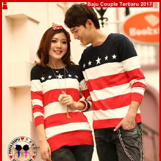 BA51 Baju Couple Star Merah Model Couple Online BShop