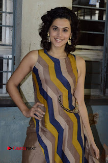 Actress Tapsee Panu Stills at Remonetise India Campaign in Chetna College Bandra West  0009.jpg