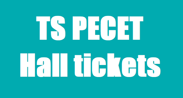 TS PECET Hall Tickets,TS BPEd DPEd Hall tickets, PECET Hall tickets