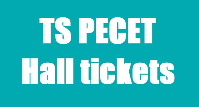 TS PECET Hall Tickets,TS BPEd DPEd Hall tickets, PECET Hall tickets