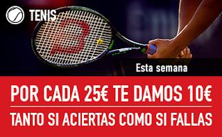 sportium Promo Tenis: Por cada 25€ ¡Te damos 10€! 15-21 octubre