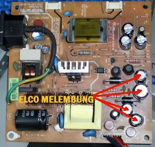 bagian yang rusak pada LED Monitor