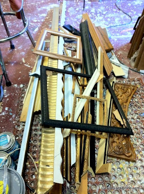 picture frames and decorative molding scraps