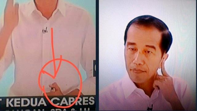 Netizen Rame Bahas Foto Jokowi saat Debat, Curiga Teknologi Canggih