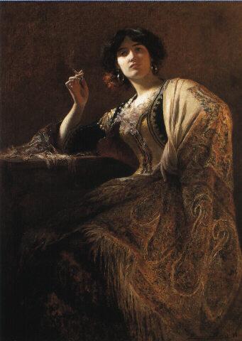 Marius-Antoine Barret (1865 - 1929): La Belle Otero as Carmen (1898)