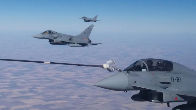 Llegan a EE.UU los 8 Eurofighters para el Red Flag