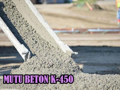 HARGA BETON JAYAMIX MUTU K450, MUTU BETON K450, HARGA BETON COR K450