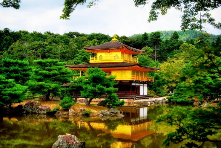 The Temple Of The Golden Pavilion In Japan Snow