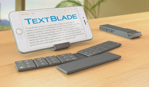 WayTools unveils TextBlade collapsible keyboard for iOS