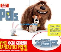 Logo Vinci Peluche e Dvd Pets vita da Animali e buoni cinema con Muller