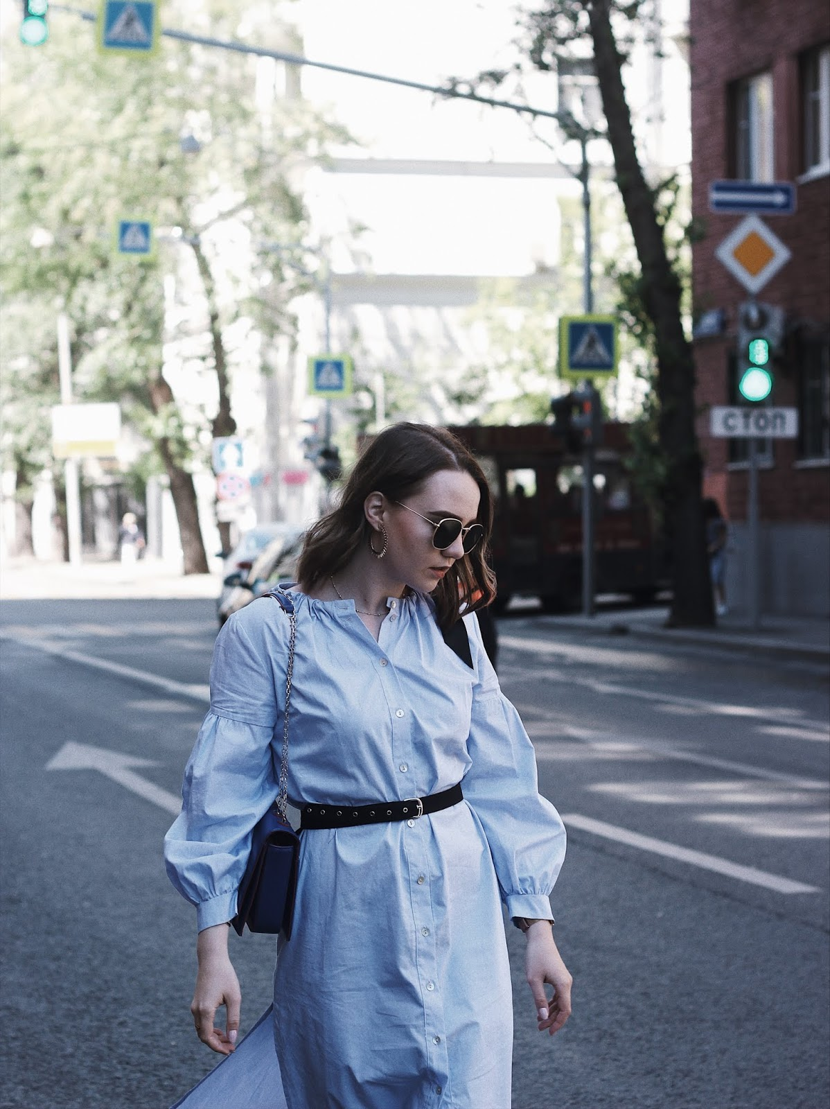 Blue Shirt Dress | Alina Ermilova