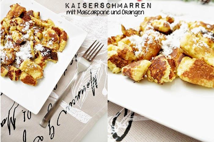 Kaiserschmarren mit Mascarpone und Orangen