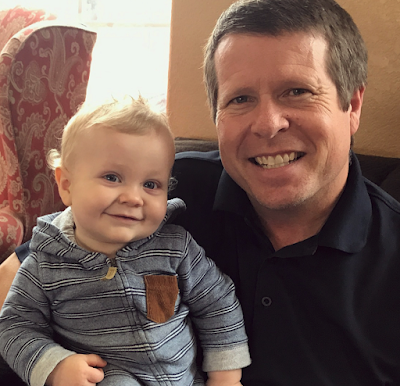 Henry Seewald with Grandpa Jim Bob Duggar