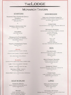 Menu for The Lodge Monarch Tavern