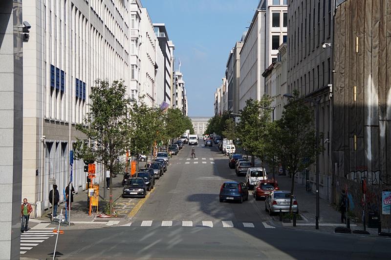 Straßen im Europaviertel Brüssel